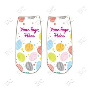 Easter Design 8 inch Full Color Kid No Show Tube Socks